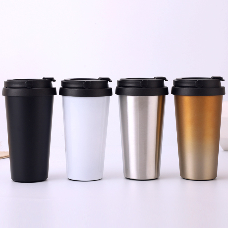 New 500ml explosion models mug car cup stainless steel portable coffee  thermos