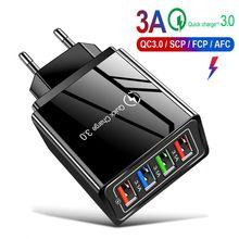 USB зарядное устройство Quick Charge3.0 4,0 QC3.0 зарядное устройство для мобильных телефонов Быстрая зарядка для iPhone samsung Xiaomi huawei Планшет настенный адаптер