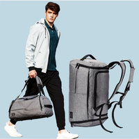 Multifunctional Men High Capacity Sports Handbag Independent Shoe Storage Gym Bag For Outdoor Fitness Training Travel Backpack