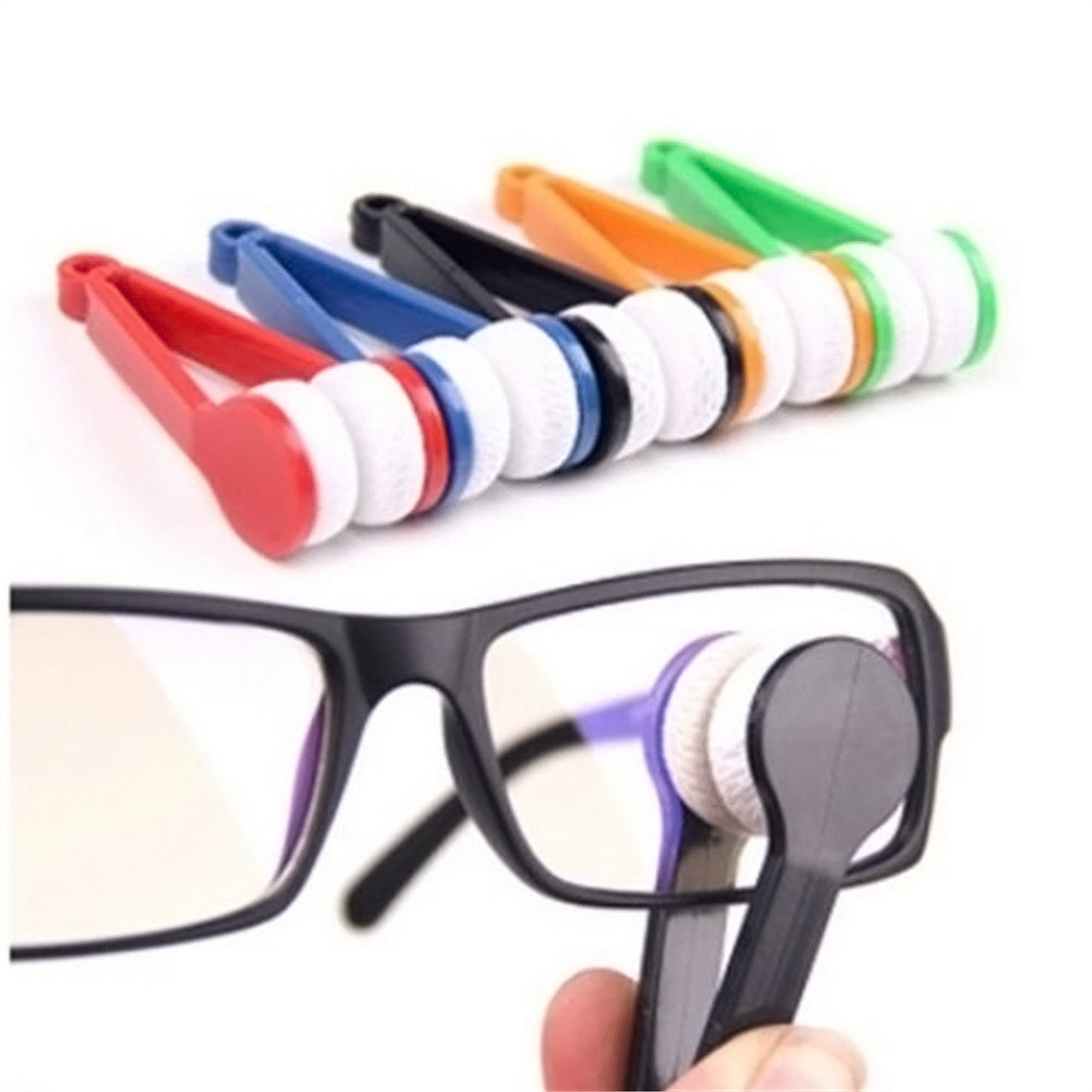 Random Glasses Eyeglass Cleaner Brush Microfiber Spectacles Cleaner Brush Cleaning Tool Multi-Function Portable