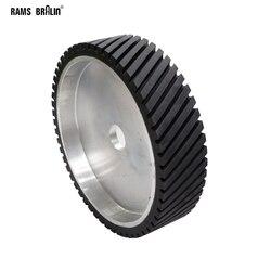 400*100 мм ленточная шлифовальная машина Контактное колесо Рифленое резиновое полировочное колесо динамически сбалансированное