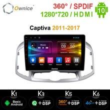 Ownice Radio Multimedia con GPS para coche, Radio con DVD, Android 10,0, 8 núcleos, estéreo, k3, k6, DSP, 4G, SPDIF