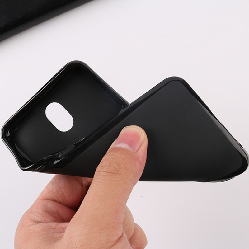 Soft TPU Phone Case Cover for <font><b>Nokia</b></font> Lumia 640 <font><b>950</b></font> <font><b>XL</b></font> 540 550 650 850 535 630 635 730 735 Silicone Pure Black Cases Shell Coque image
