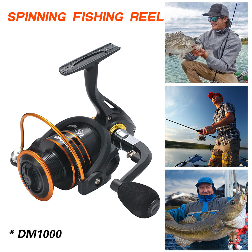 Spinning Reels Light Weight Ultra Smooth Powerful Spinning Fishing Reels <font><b>DM1000</b></font> Fishing Wheel Reel High Quality Drive Gear image