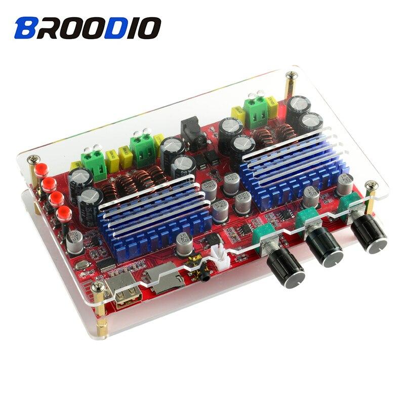 TPA3116D2 2.1 canaux amplificateur Audio numérique carte haute puissance Subwoofer Bluetooth amplificateurs Support U disque TF décodage bricolage Amp