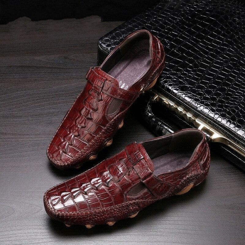 Chaussures Daffaires Pour Hommes Daffaire Pour Soulier En Motif De Crocodile Cuir Mocassins