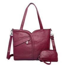 Sacs à main en cuir pour femmes, lot de 2 sacs de grande capacité, fourre tout pour dames, sacoches de stylistes célèbres 2018