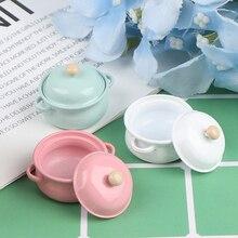 Dollhouse Model-Toys Decor Kitchenware Soup-Pot Miniature-Accessories Food-Simulation