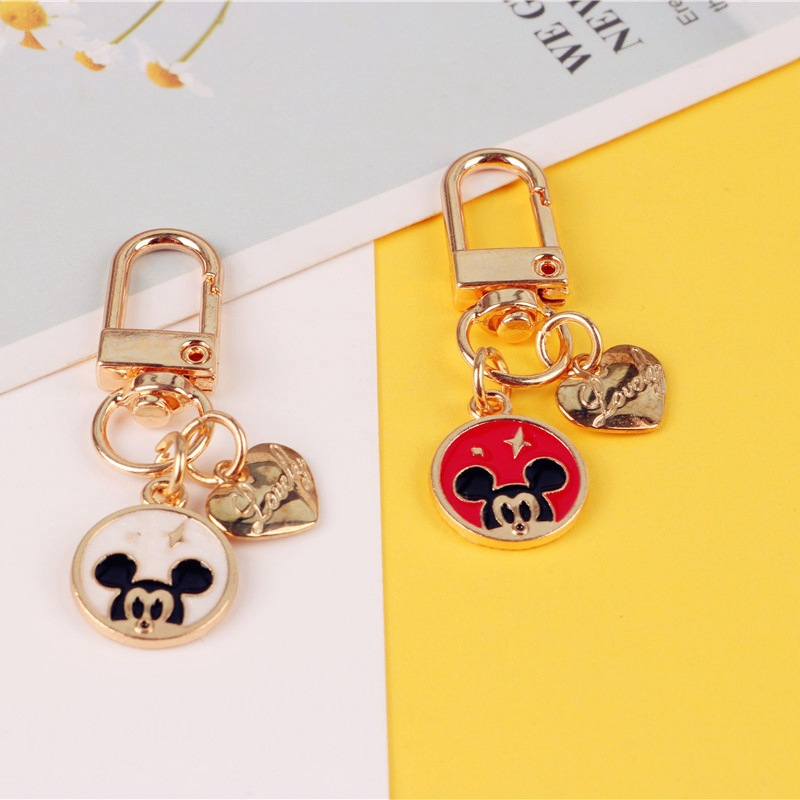 2020 New Fashion Cartoon Cute Mickey Mouse Keychains Childhood Minnie Car Key Chain Pendant For Girl Bag Keyring Gifts Bags image