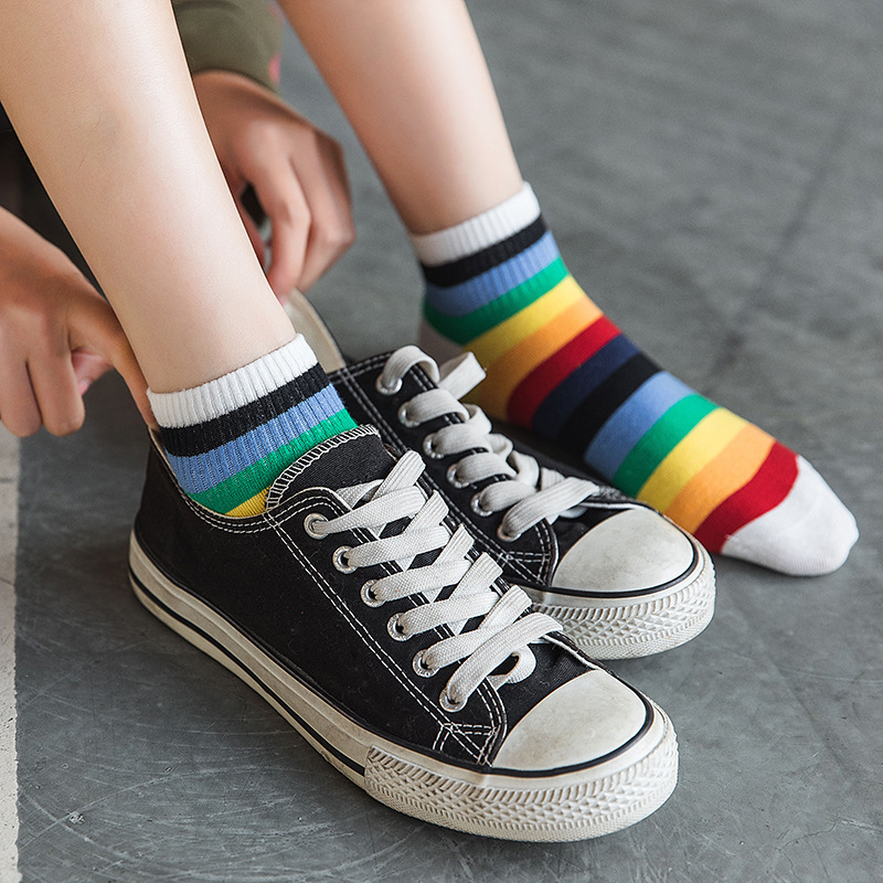Ladies Sloth Ankle Socks 2  Pack Stripe Shoe Size 4-11  Low Cut