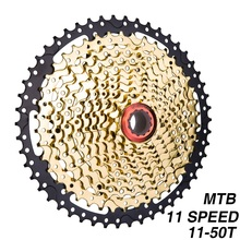 MTB 11s 11-50T SL Black Gold Cassette Mountain Bike Sprockets 11 11v 22s 11 Speed Freewheel K7 for XT X1 X01 X1 Bicycle Parts neffos x1 lite gold