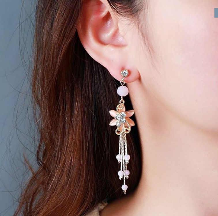 ลมจีนพู่ยาวจี้ VINTAGE STUD ต่างหู Elegant exquisite ป้องกันโรคภูมิแพ้ผู้หญิงต่างหูบุคลิกภาพแนวโน้ม