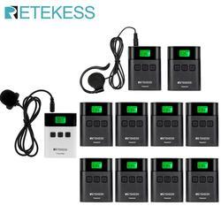 RETEKESS TT122 Tour Guide System Wireless 1 Transmitter+ 10 Receivers for Church Factory Training Tour Guide Goverment Meeting
