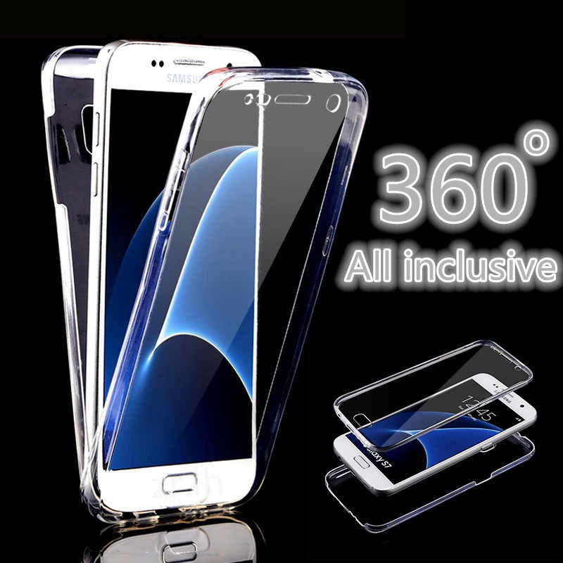 360 Full Cover Case untuk Samsung Galaxy A50 A40 A30 A10 M20 S9 S10E J6 J4 S10 Plus A750 Kasus shockproof Shell Kualitas Tinggi Tritone
