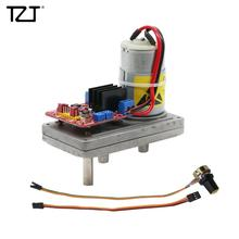 "TZT DC 12V כדי 24V מתכת הילוך גבוהה מומנט סרוו 100 ק""ג\ס""מ עם פוטנציומטר עבור מכאני זרוע רובוט"