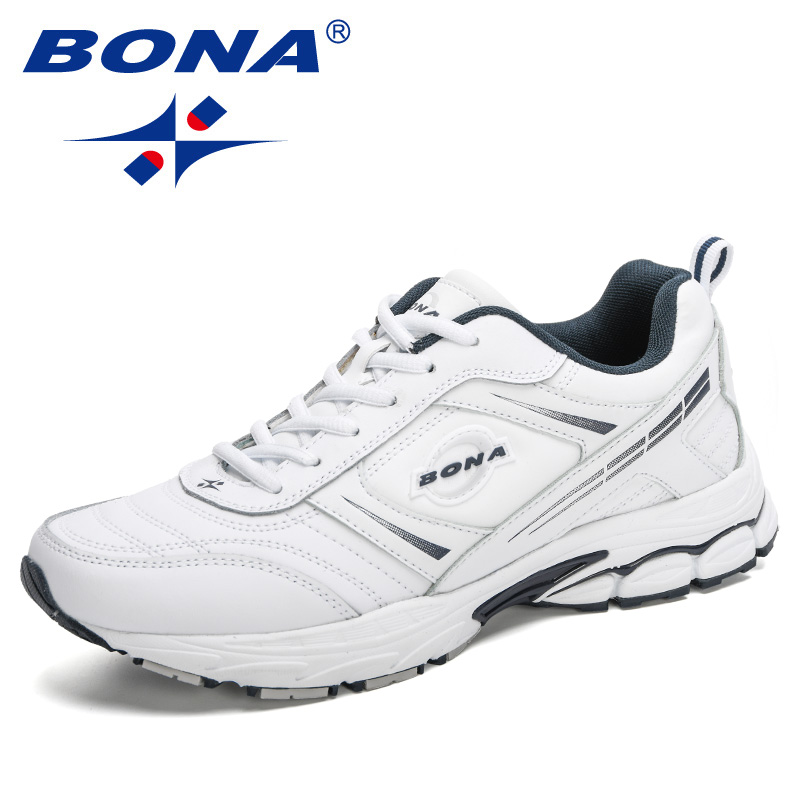 BONA 2020 New Designers Action Leather Outdoor Sports Shoes Men Trendy Sneakers Man Running Shoes Athletic Shoes Masculino Comfy