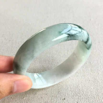 Wysłać krajowe świadectwo naturalne birma (związek Myanmar) Emerald klasy pływające niebieski dwa-kolorowa bransoletka 54mm-64mm kobiet bransoletka z żadu wysłać maila do M