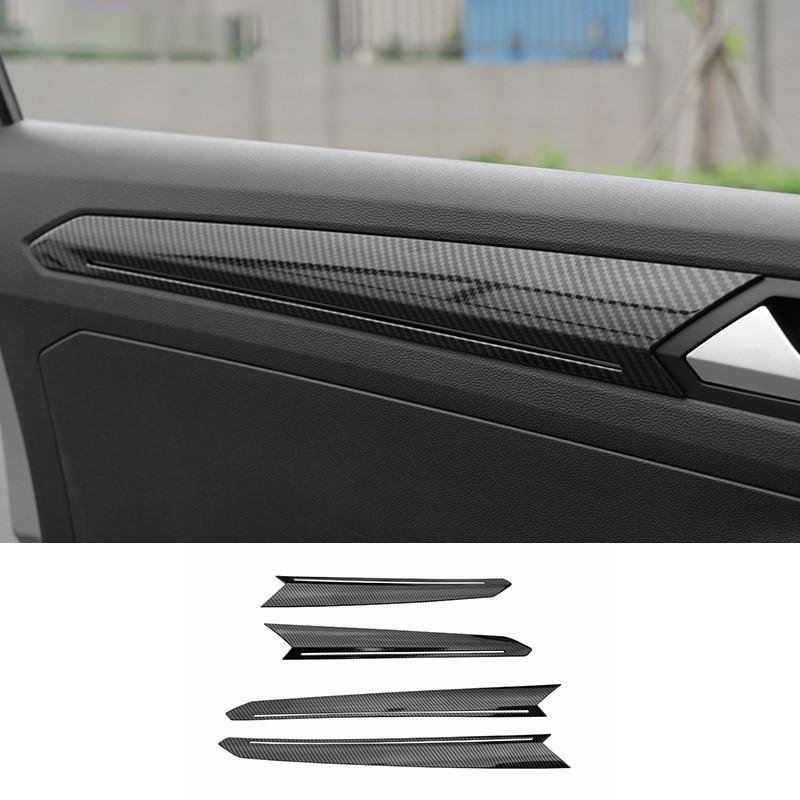Carbon Fiber Dashboard Center Console Cover Trim For Volkswagen VW T-ROC 2018