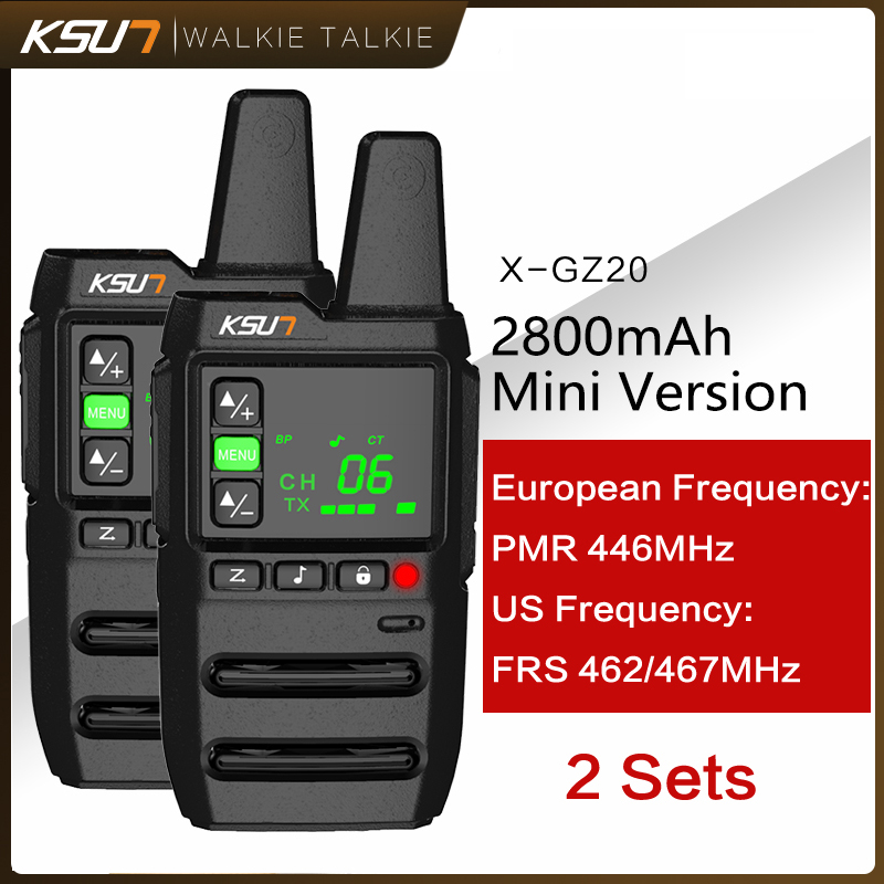 Переносная рация KSUN GZ20 PMR 2 шт. PMR PMR446 FRS, удобная двухсторонняя радиосвязь, рация для всей семьи