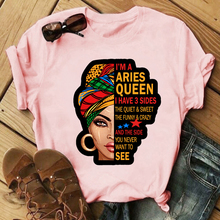 Female Fashion Casual Cotton Short Sleeve Tops Tee Summer Women T-shirt I'm A Strong Melanin Queen Letters Print Pink Shirt