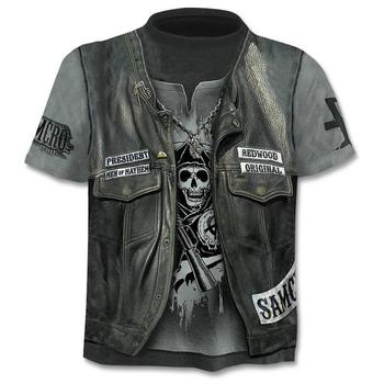 2021 New Cloudstyle Own Design Men's T-Shirt 3D Gun Warrior T-shirt Print Knife Harajuku Tops Tee Short Sleeve Fitness T-shirt 1