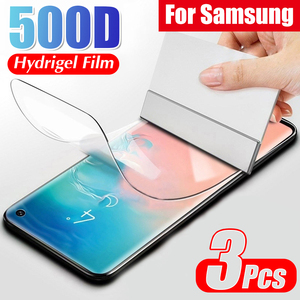 Full Curved Screen Hydrogel Film On The For Samsung S8 S9 S10 S20 PLus Note 20 Ultra S10E A51 A71 Protective Soft Film No Glass(China)