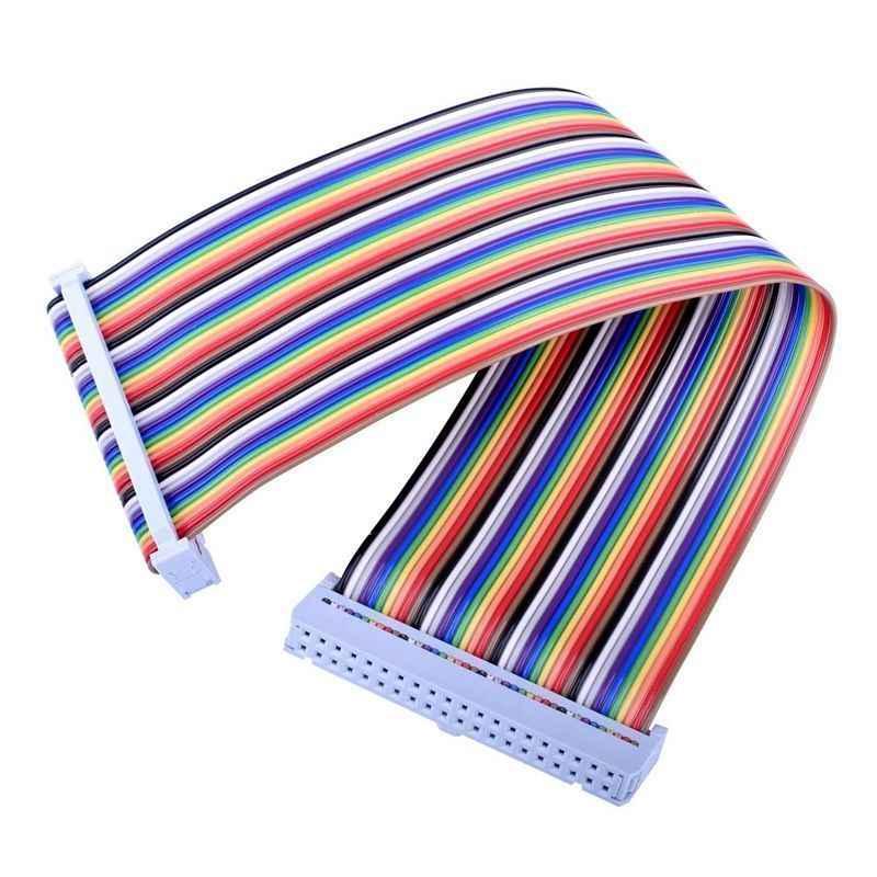 Pour carte d'extension de rupture de RPi GPIO + 20cm FC40 40pin plat câble ruban arc-en-ciel + assemblé T Type GPIO Ad Q2C7 pour framboise