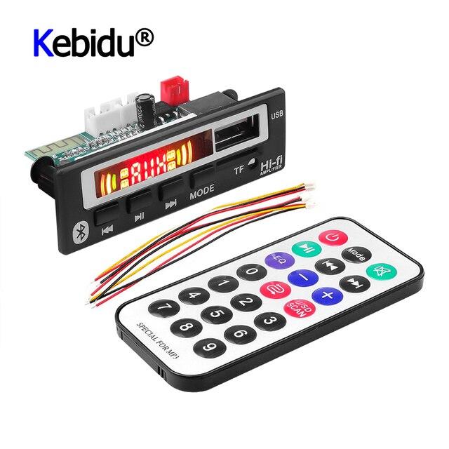 5V 12V Mp3 décodeur Module de carte USB 3.5mm AUX Bluetooth FM Radio V5.0 récepteur sans fil 1 Din musique haut parleur voiture Kit