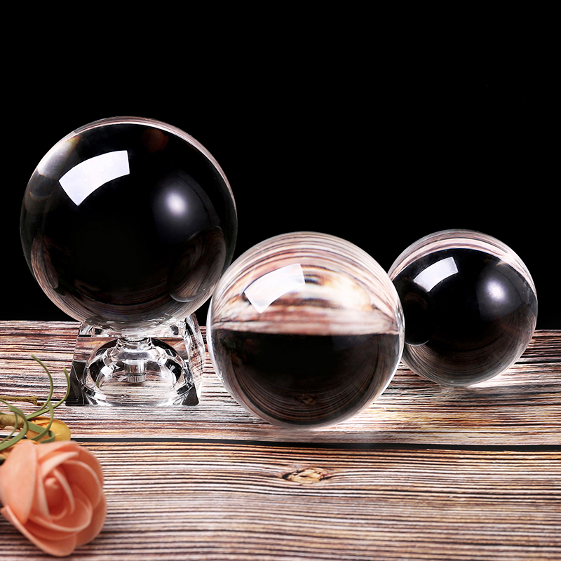 6/8/10CM Photography Crystal Ball Ornament Feng Shui Clear Color Magic Natural Glass Balls For Home Wedding Decoration