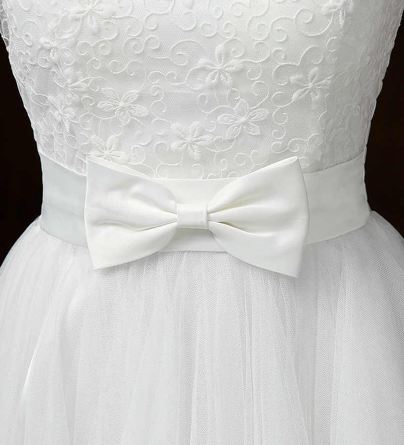 PSQY-B # Nuovo breve abiti da damigella d'onore bianco primavera estate 2020 della ragazza di nozze di promenade del partito del vestito brindisi abito da ragazze gruppo Sorella commercio all'ingrosso
