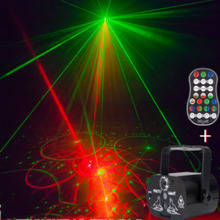 Sound-Activated 60 Patterns LED Laser Projector Stage DJ Disco Light Club Dancing Party Light Christmas Stage Effect Lighting dj laser stage light 48 96 patterns laser projector 3w blue led stage effect lighting eu plug for disco light xmas party