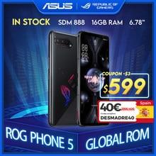 Novo asus rog telefone 5 rom global snapdragon888 128/256gb android11 6000mah 6.78