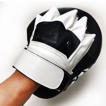 1Pair Boxing Focus Pads Curved Hook And Jab Hand Mitts Punching Target PU Leather For MMA Thai Training Breathable Decrease Pain