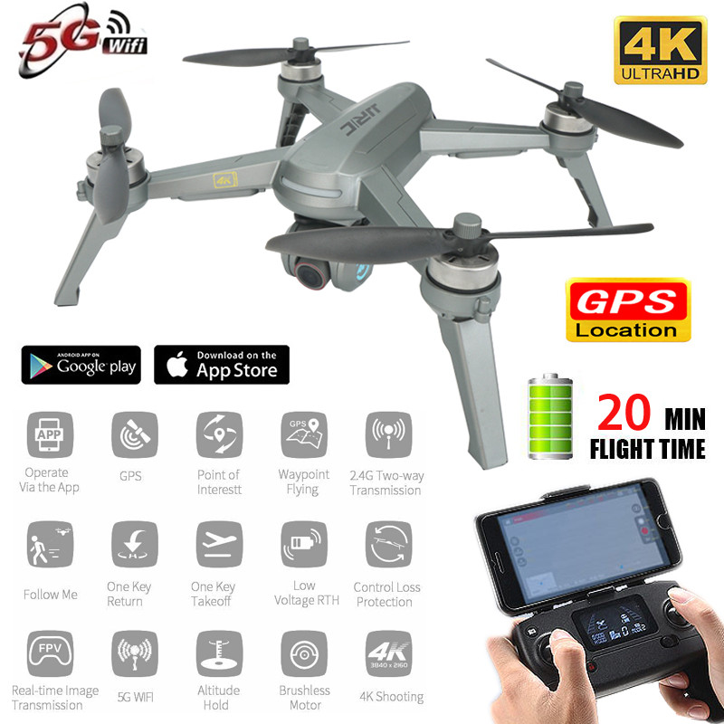 GPS 4k Drone 5G WIFI FPV Live Video Foldable RC Drones Brushless Motor Adjustable Camera Rc