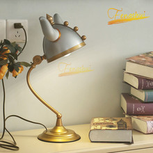 American LED Table Lamp Nordic Creative Iron Warrior Decoration Table Lights Bedroom Living Room Table Lamps Children Room Lamps