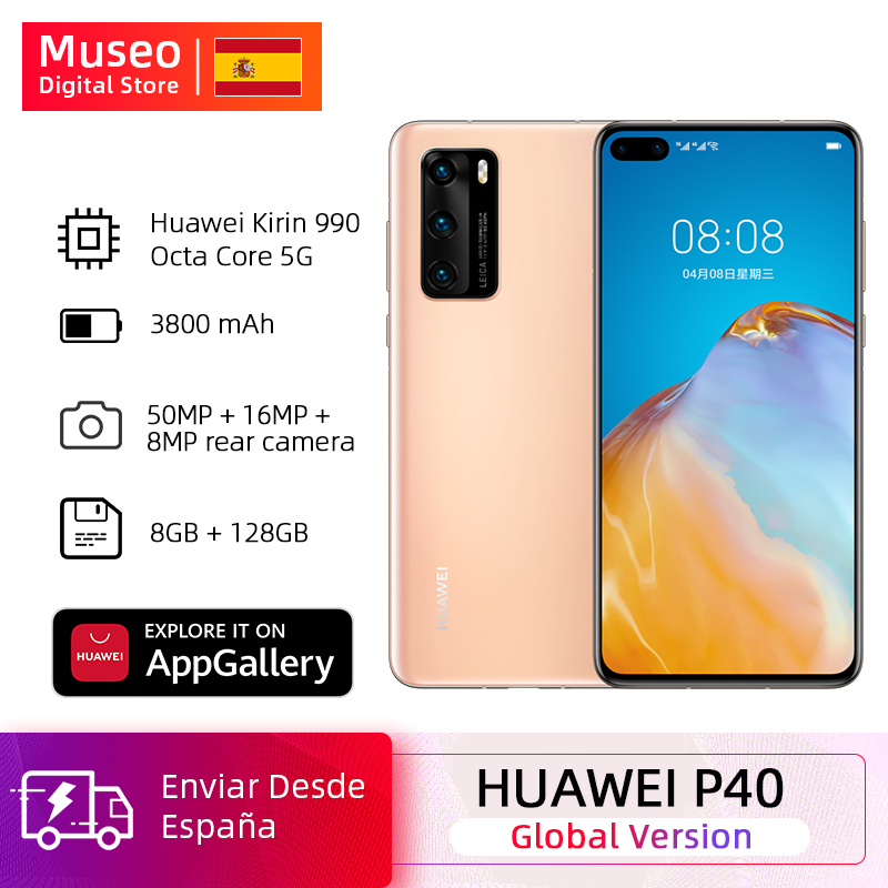 Global Version Huawei P40 5G Smartphone Kirin 990 8GB 128GB 50MP Camera Threefold 6.1 ''Android 10 22.5W SuperCharge NFC