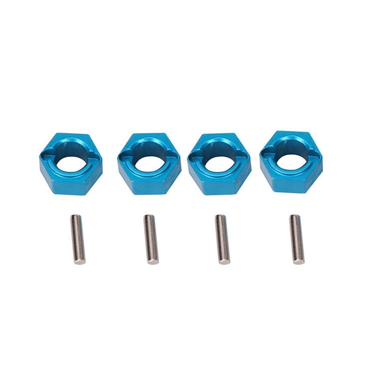 A949-11 Aluminum Hexagon Wheel Hex Seat Mount Hub Pins 7mm Upgrade Parts For Wltoys 1/18 A949 A959 A969 A979 K929 RC Car