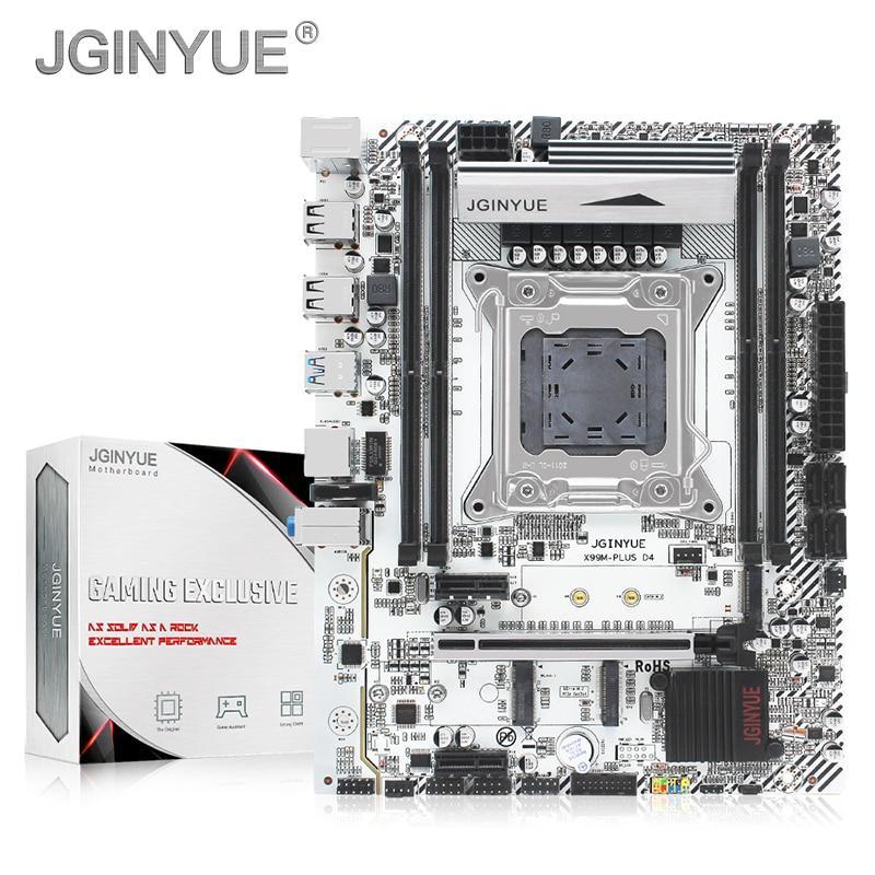 JGINYUE X99 motherboard LGA 2011-3 support DDR4 RAM Xeon E5 V3&V4 processor SATA pci-e M.2 NVME slot X99M PLUS D4 motherboards 1