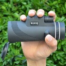 사냥 40X60 전화 단안 망원경 모바일 비디오 쌍안경 필드 안경 그레이트 핸드 헬드 망원경 HD 전문 범위