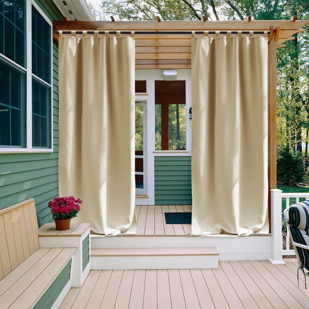 rideau exterieur etanche et isole rideau occultant drape pour patio jardin avant porche