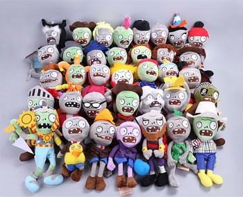 [Funny] 10pcs/lot 25CM Plants vs Zombies Soft Plush Doll model decoration car Game Figure Statue Party toy soft Stuffed Doll