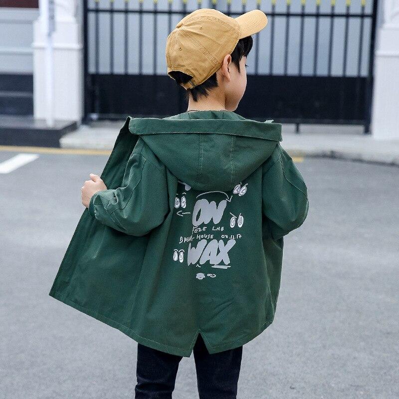 Jacket for Boy 2019 Fashion Children Cartoon Hooded Active Windbreaker Teenage Clothes Big Boys Sport Coat Boys Outwear Coat in Jackets Coats from Mother Kids