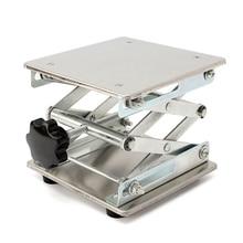 150 X 150Mm  Lifting Platform Stand Rack Scissor Lab Jack Adjustable Height Stainless Steel Laboratory Table Holder Lifter