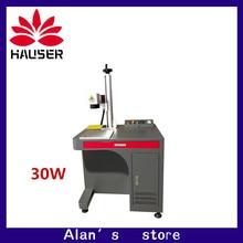 무료 배송 30W 섬유 레이저 조각기 이산화탄소 레이저 마킹 머신 마킹 레이저 커터 금속 기계 금속 조각 diy