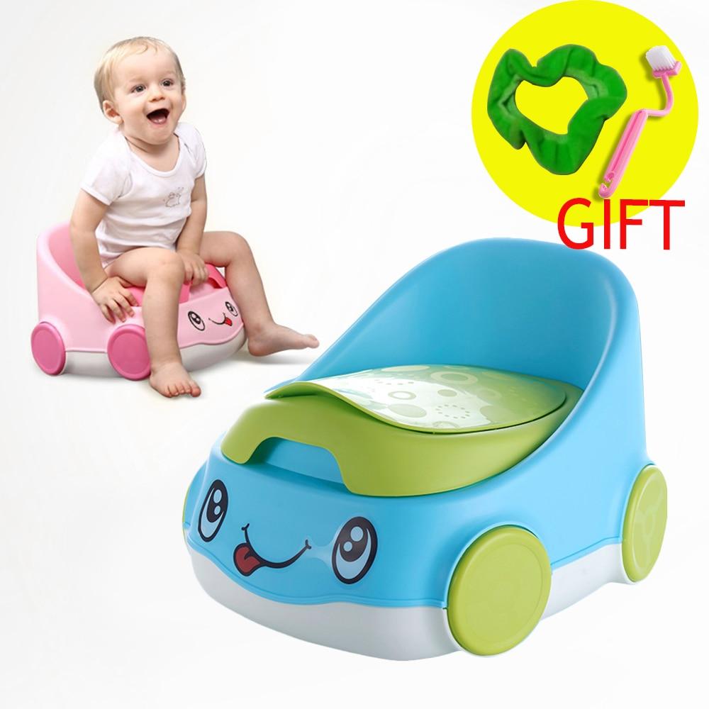 Baby Potty Portable Travel Toilet Children Urinal Child Training Potty Girls Boy Pot Chair Cute Car Shape Children Backrest Pot