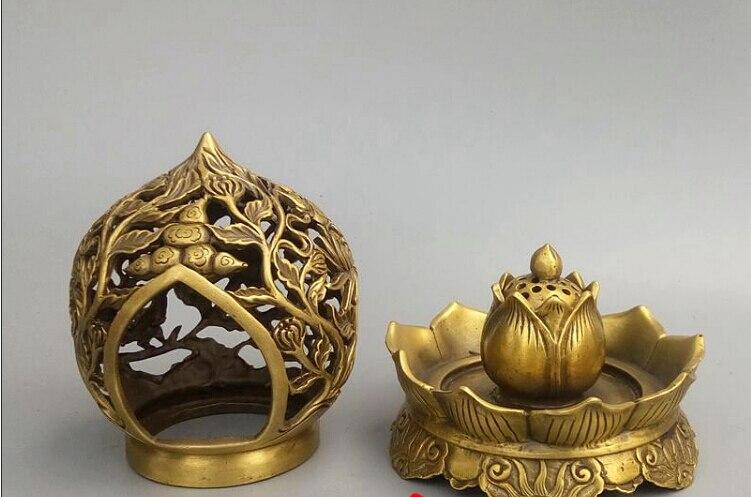 Recueillir l'encensoir en laiton qinglongding ornement décoration de la maison, ameublement de bureau, cendrier sans fret - 3