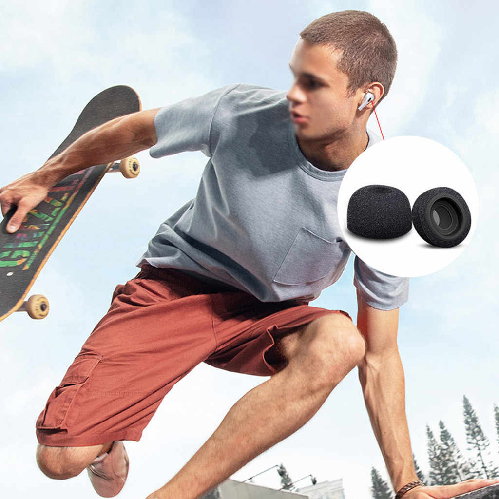 Esponja de silicona de espuma de memoria almohadillas para auriculares Apple Airpods Pro accesorios para auriculares tapones de auriculares de recambio para Auriculares auriculares