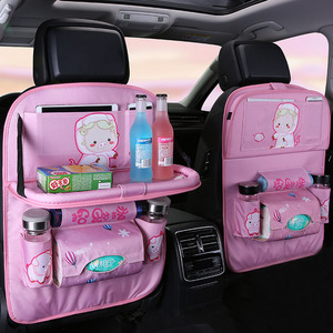 Image 4 - Cartoon Multi Pocket Car Seat Back Hanging Organizer Universal Auto Pad Cup Storage Holder Bag Car styling Protector Accessories