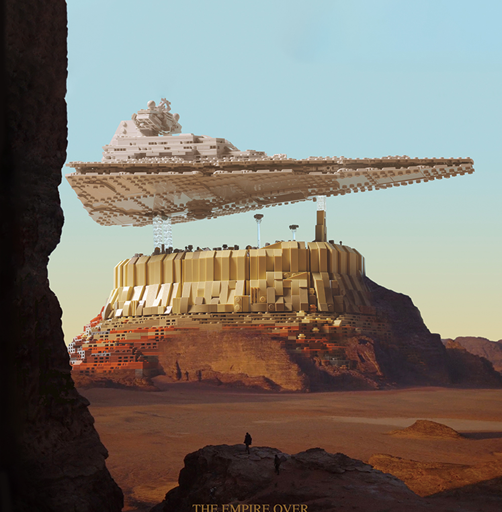 lego The Empire over Jedha City (1)