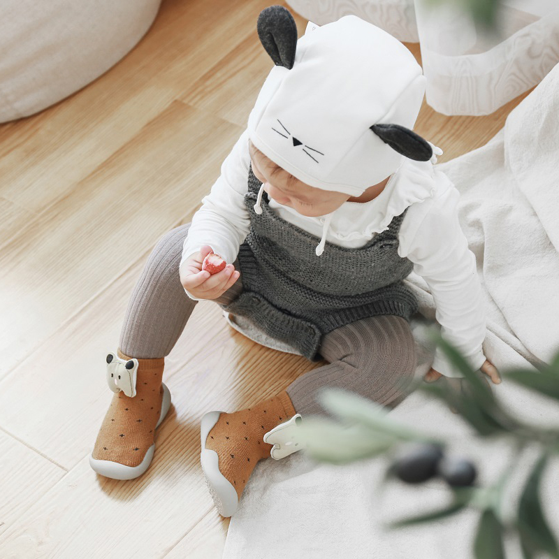 2019 new baby shoes cartoon terry shoes baby toddler shoes terry soft bottom children floor shoes non-slip stereo cartoon shoes